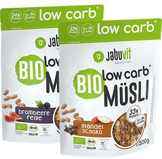 JabuVit Bio Low Carb Müsli - 500 g Beutel