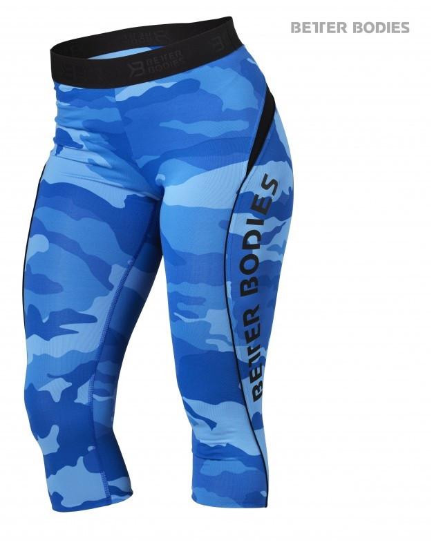 Better Bodies Fitness Curve Capri - Blue Camo