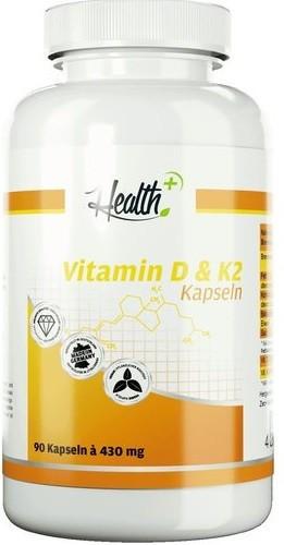 Health+ Vitamin D & K2 Kapseln - 90 Kapseln