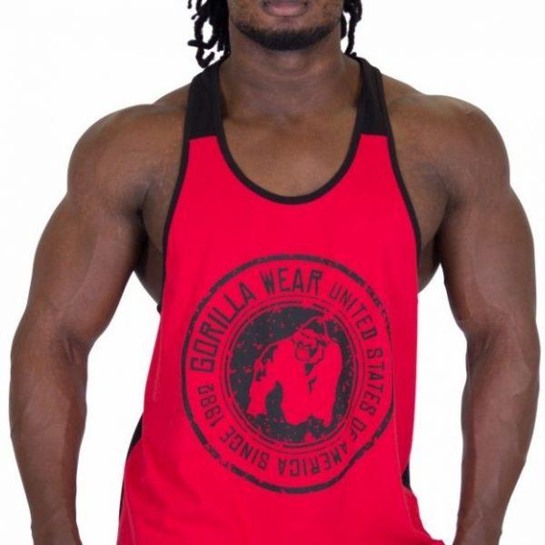 Gorilla Wear Roswell Tank Top - Red/Black