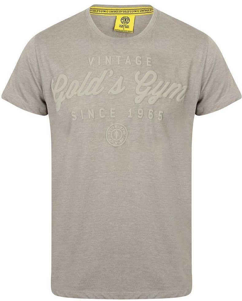 Golds Gym Emboss Print T-Shirt - Grey
