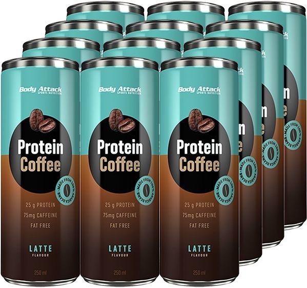 Body Attack Protein Coffee - 12x 250ml