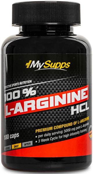 My Supps 100% L-Arginine HCL - 180 Kapseln