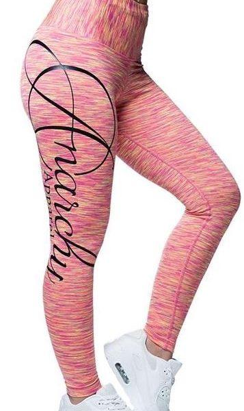 Anarchy Apparel Cushy Leggings - Pink/Gelb