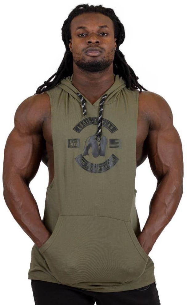 Gorilla Wear Lawrence Hooded Tank Top - Army Green