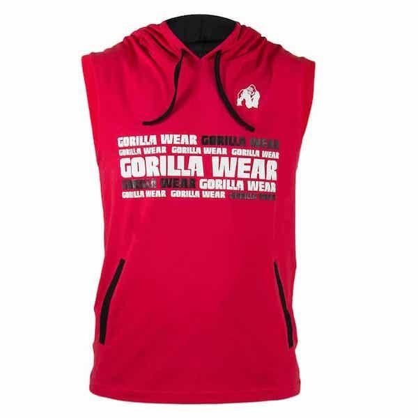 Gorilla Wear Melbourne S/L Hooded T-Shirt - red