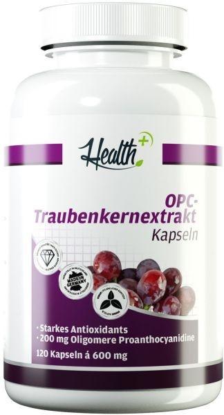 Health+ OPC Traubenkern-Extrakt - 120 Kapseln