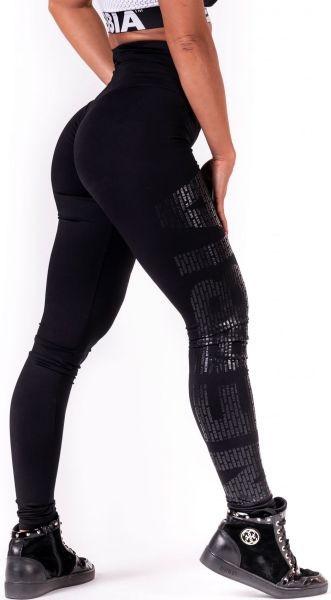 Nebbia One tone pattern Leggings - black