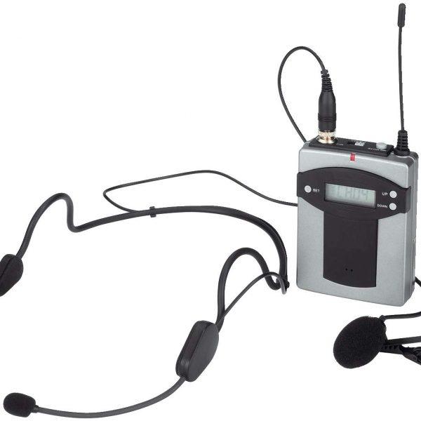 Monacor Taschensender mit 2 Mikrofonen - Objektausstattung - Monacor